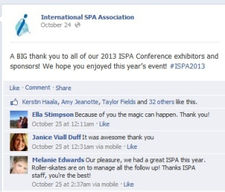 International Spa Association 2013 Facebook