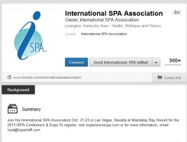 International Spa Association LinkedIn Profile