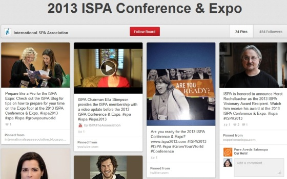 International Spa Association 2013 Pinterest board